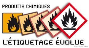 evolution etiquetage produits chimiques